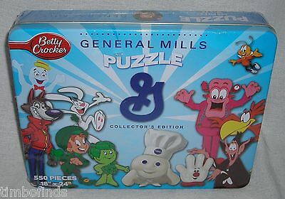 General Mills Betty Crocker Collectors Edition Puzzle Factory Sealed Tin Box New