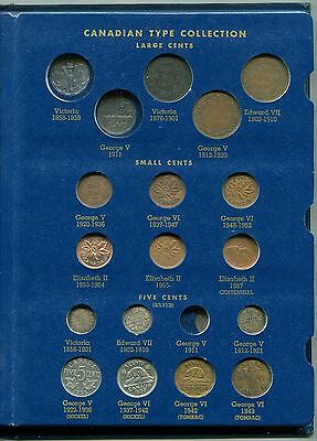 Canadian Type Set Collection Small Coins 1858-1967 40 Coins Circulated