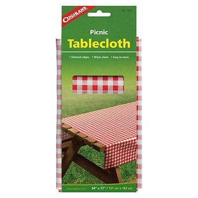 "Coghlan's 7920 Red & White Gingham Tablecloth 54"" x 72"""