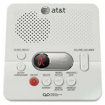 AT&T ATT1740 Digital Answering System 60 Minute Recording Time White