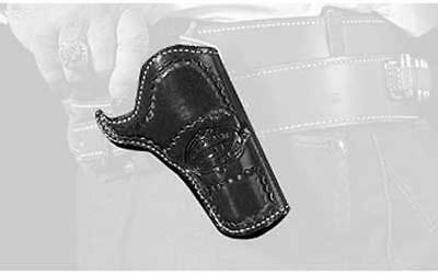 "Desantis 083 DOC Holiday Cross Draw Holster RH Black SAA 3 1/2"" Lined 083BC53Z0"