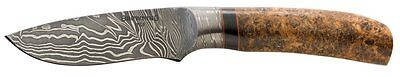 "Browning 322218 Storm Front Fixed Knife Damascus 3.5"" Bellied Blade/Ash Handle"