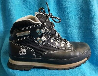 Timberland 58371 Hiking Hiker Black Leather Ankle Boots Women's Size 7.5 M