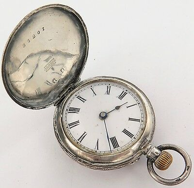 Very Nice / Antique .935 Swiss Silver Pin Set Pocket Watch. A Fixer.