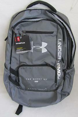 Under Armour UA Hustle II Storm 1 HBO Night Of Promo Backpack Gray & Black NWT