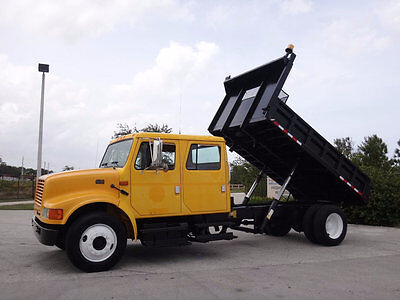 International 4700 Crew Cab Dump FL Truck Government Owned 7.3L Diesel 1 Owner