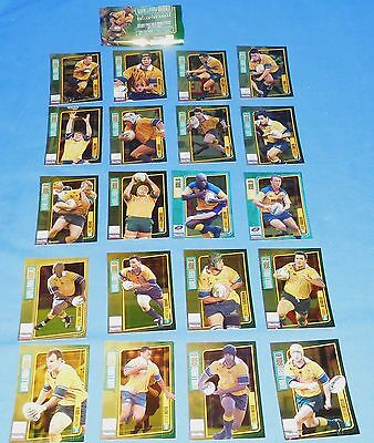 2000 Wallaby Gold Australian 20 Card Set Open pack Mint Wallabies Rugby Union