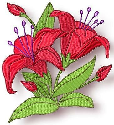 Pretty Flowers 10 Machine Embroidery Designs Cd 4 Sizes Included