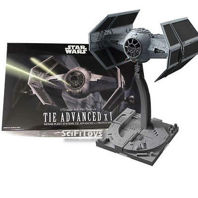 New 1/72 Star Wars Darth Vader 's Tie Fighter Advanced Model Kit Bandai Official