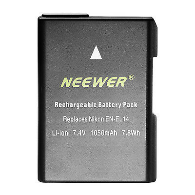 Neewer Li-ion Battery Replacement for EN-EL14 EN-EL14A for Nikon D5200 D3100