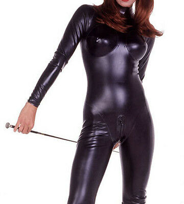 Latex Rubber Bodysuit Black Fashion Full-body Catsuit Tights Suit Size XS- XXL