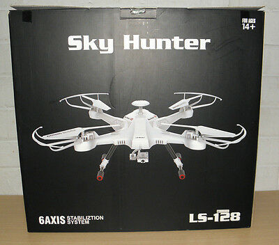 Sky Hunter LS-128 FPV Quadcopter Headless Mode 2.4G 6 Axis Gyro Drone HD Camera