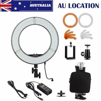 """AU 180 LED Ring Light 14"""" 40W 5500W With Adapter Phone Holder For Make Up Studio"""