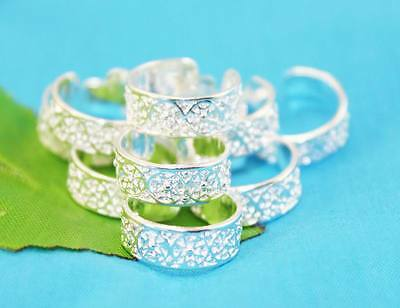 wholesale lots 10P  Silver fashion Design toe rings Adjustable