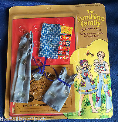 1970s Sunshine Family Mint On Card Outfit Denim Duds Unused Mattel MOC MIB
