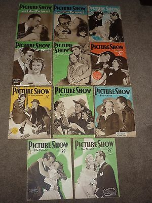 Picture Show & Film Pictorial Magazine - Lot of 11 1940-1941 Issues