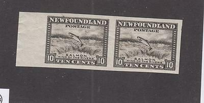 NEWFOUNDLAND # 193a MNH 10cts SALMON LEAPING IMPERF PAIR CAT VALUE $225