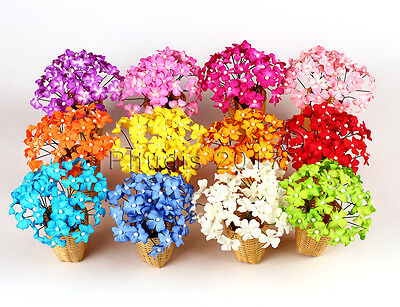 20 Blossom Flower Mulberry Paper Scrapbooking Card Crafts Wedding DIY 1.75cm.