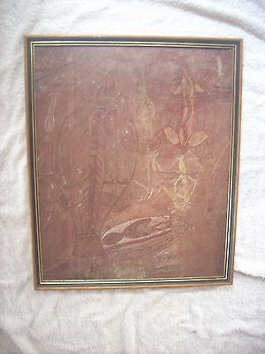 Aboriginal Art Framed Print Under Glass