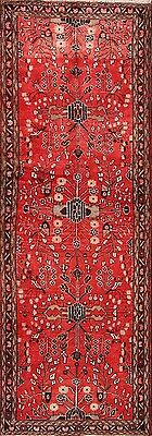 """Great Deal Hand Knotted Runner 4x10 Hamadan Persian Oriental Rug 9' 9"""" x 3' 6"""""""
