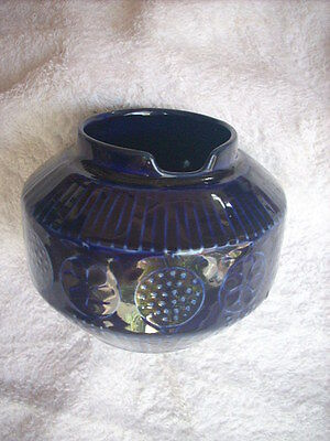 Arabia Dark Blue Slotted Bowl