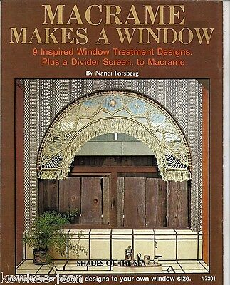 Macrame Makes a Window instructions booklet: curtains, screen Vintage - see pics