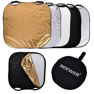 """Neewer Portable 43"""" 5 in 1 Collapsible Multi Photography Square Studio Reflector"""