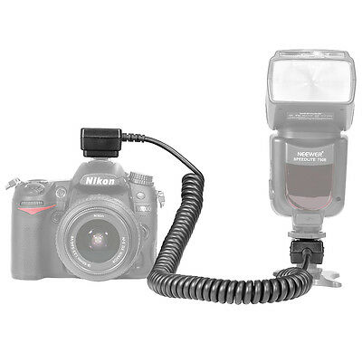 Neewer 9.8 feet/3 m TTL Off Camera Flash Speedlite Sync Shoe Cord for Nikon
