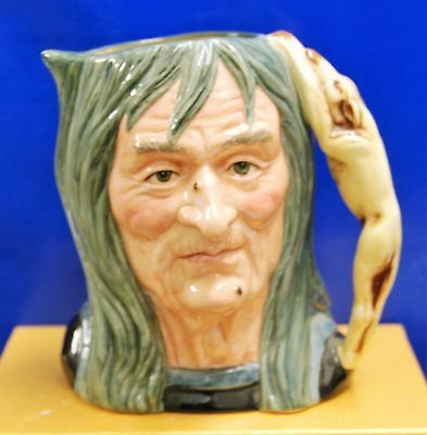 Large Royal Doulton Character Toby Jug The Pendle Witch D6826 *special Edition*