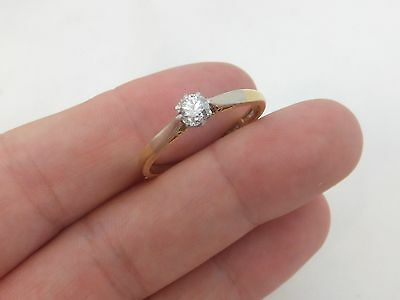 Fine 33 point old cut diamond art deco 18ct gold platinum solitaire ring 18k 750