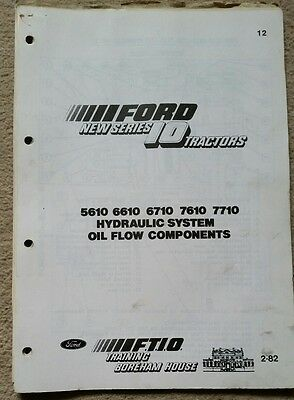 Ford 5610 6610 6710 7610 7710 Tractor Hydraulic System Oil Flow Components Info