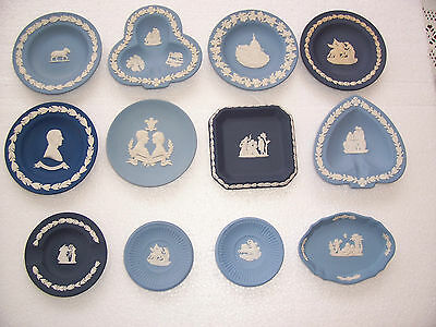 12 Wedgwood  jasperware pin dishes in excellent condition.