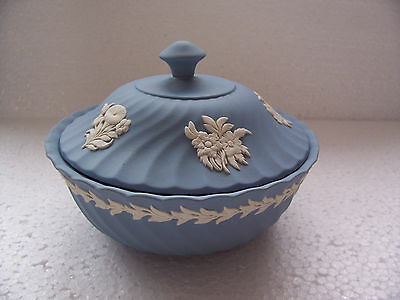 Wedgwood Blue jasperware Lidded Bowl  in excellent condition.