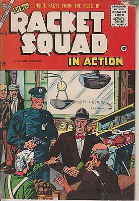 Racket Squad In Action  No  21   April 1956     Charlton Comics Group