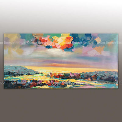 Large modern abstract art pure hand-painted oil painting on the canvas,Scenery