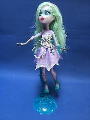 Monster High Haunted Twyla Ghost  Doll & Display Stand