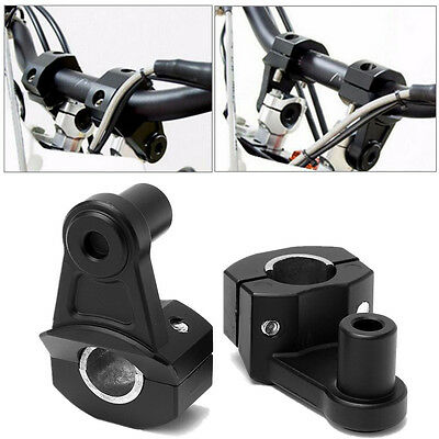 2Pcs Aluminum 22mm/28mm Motorcycle Handlebar Handle Fat Bar Mount Clamps Riser