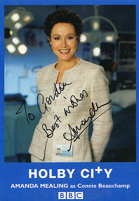 Amanda Mealing as Connie in Casualty BBC Vintage Hand Signed Photo Cast Card