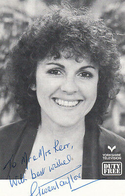 Gwen Taylor Duty Free TV Show Hand Signed Photo
