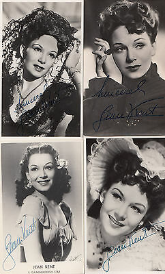 Jean Kent 4x Printed Signed but Hand Appearance Vintage Photo s