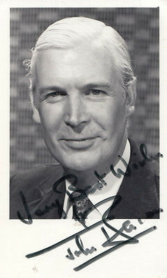 John Bacon About Anglia TV News Reader Hand Signed Photo