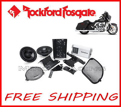 Rockford Fosgate Harley Davidson Street Glide Amplifier Kit 2014-Up