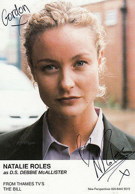 Natalie Roles as DS Debbie McAllister ITV The Bill Hand Signed Cast Card Photo