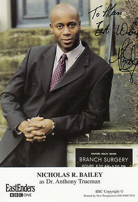 Nicholas Bailey Dr Anthony Truelove BBC Eastenders Hand Signed Cast Card Photo