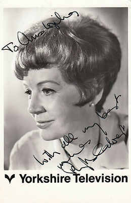 Phyllis Calvert Yorkshire Television Hand Signed Cast Card Photo