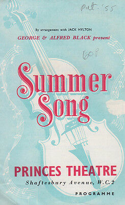 Summer Song Thomas Baptiste 1st Black Actor Coronation Street Theatre Programme
