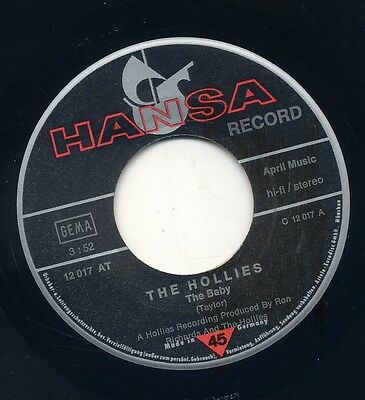 Single = THE HOLLIES = The Baby = Hansa Label