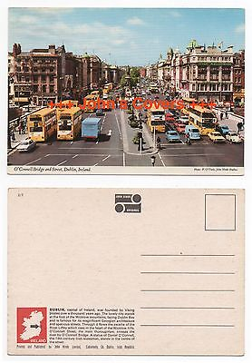 1960's IRELAND Cover O'CONNELL BRIDGE DUBLIN RP Real Photo HINDE Postcard UNUSED