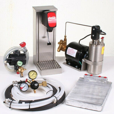 1 FLAVOR TOWER SODA FOUNTAIN /Cold Plate Cooling/ complete & Pre-assembled