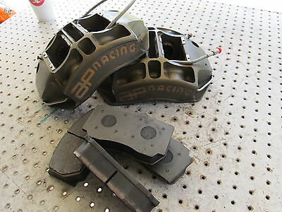 Nascar Ap 4 Piston Front Calipers 5850-102/103 With 44/38 Mm Pistons New Pads